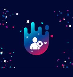 Remove user simple icon profile avatar sign vector
