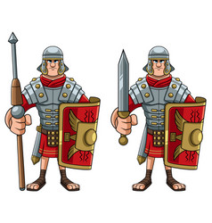 roman soldier on white vector image