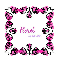 rose flowe rframe vector image