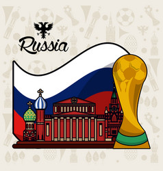 Russia 2018 world soccer vector