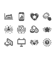 Set business icons such as star question mark vector