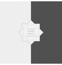 Set of geometric minimalistic thin lined seamless vector
