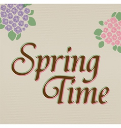Spring Time hand lettering vector image