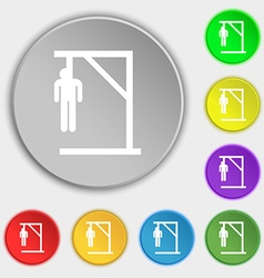 Suicide concept icon sign Symbol on eight flat vector