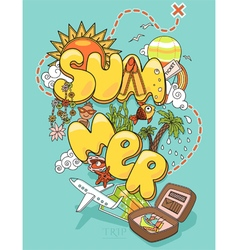Summer trip vector image