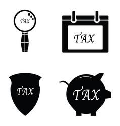 Tax icon set vector