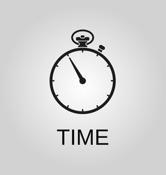 time icon time symbol flat design stock vector image