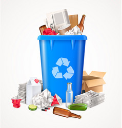 Trash and waste concept vector