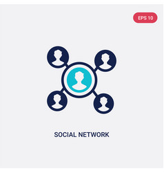 Two color social network icon from blogger and vector