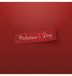 Valentines Day Hearts Pattern Tag with Text vector image