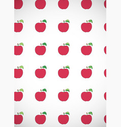 Vertical card with cartoon red apples vector