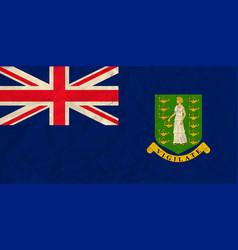 virgin islands paper flag vector image