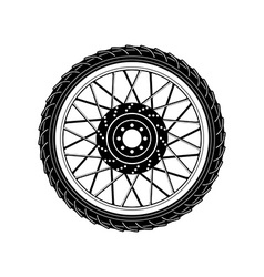 Wheel Icon Wheel Icon art vector image