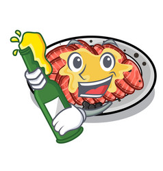With beer carpaccio in a character shape vector