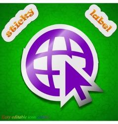 World wide web icon sign Symbol chic colored vector