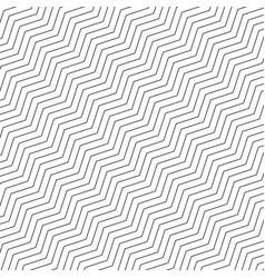 Zigzag geometric seamless pattern simple black vector