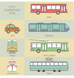 City transport vector image