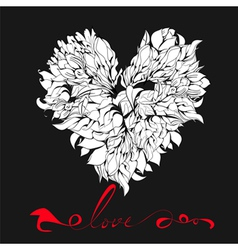 Decorative heart with Inscription love vector image vector image