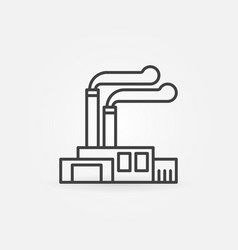 factory and plant icon vector image