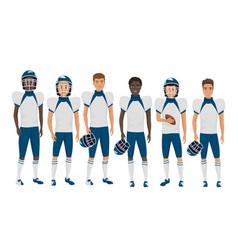 flat school american football young guys vector image