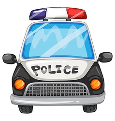 Police car vector image