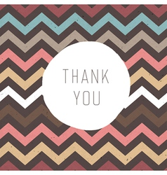 thank you card zigzag vector image vector image