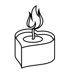 heart candle icon outline style vector image