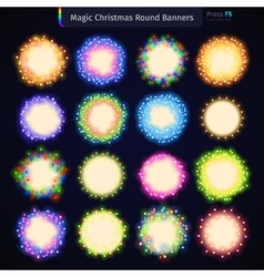 Magic Christmas Round Banners vector image vector image