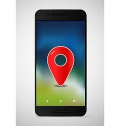 Modern smartphone template Dark mobile phone vector image vector image