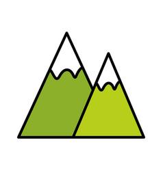 mountains landscape symbol vector image vector image