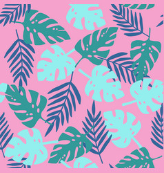 pink tropical pattern vector image vector image