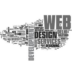 a craze pro web development text word cloud vector image