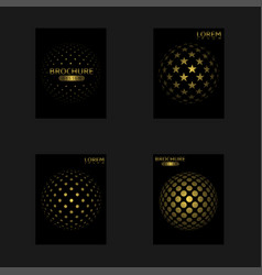 abstract cover set vector image vector image