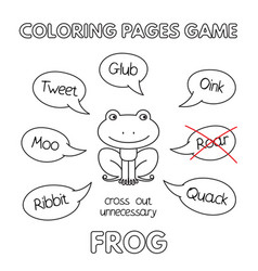 cartoon frog coloring book vector image vector image