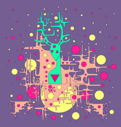 fantastic funny space deer vector image