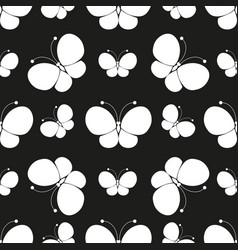 butterflies silhouettes pattern vector image vector image