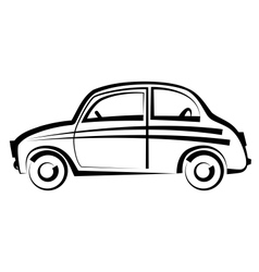 Car freehand drawing icon black and white vector image