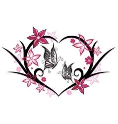 floral elements wedding vector image vector image