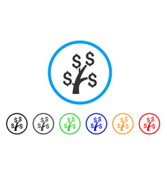 money tree rounded icon vector image vector image
