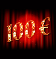 100 euro price symbol vector