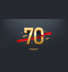 70th year anniversary background vector