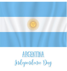 9 july argentina independence day background vector image
