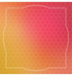 Abstract background with triangles and vintage vector image