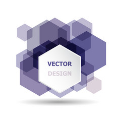 abstract purple hexagon banner background template vector image