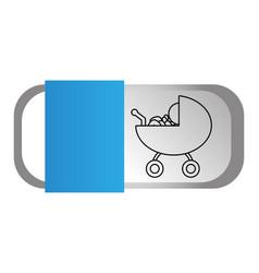 baby pictogram cartoon vector image