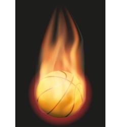 Basketball ball with flame vector