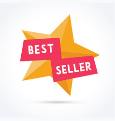 best seller with star vector image