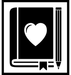 book with heart vector image