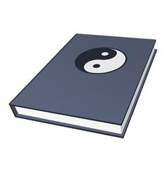 Book with ying-yang symbol vector