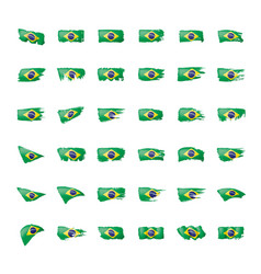 Brazil flag on a white vector